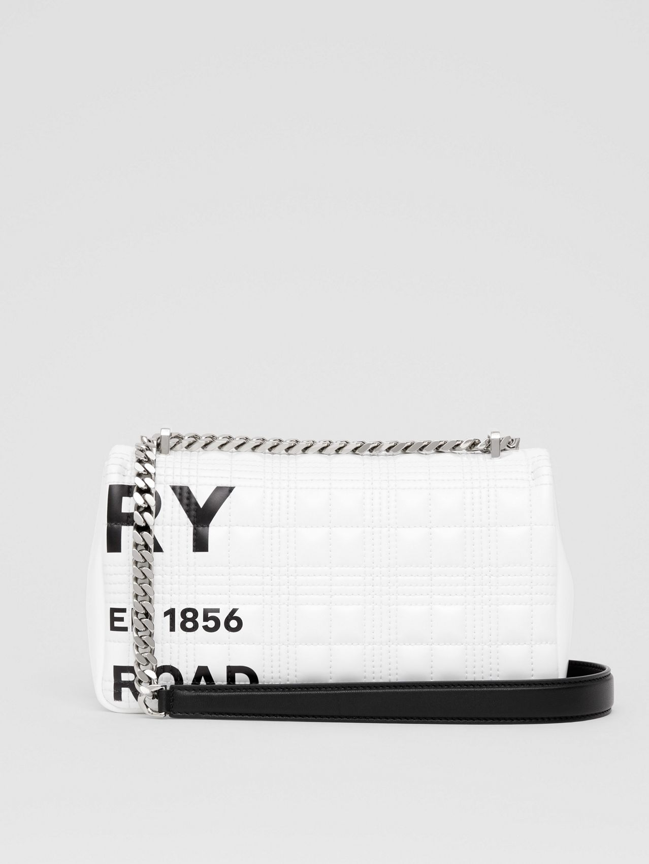 Small Horseferry Print Quilted Lola Bag in White