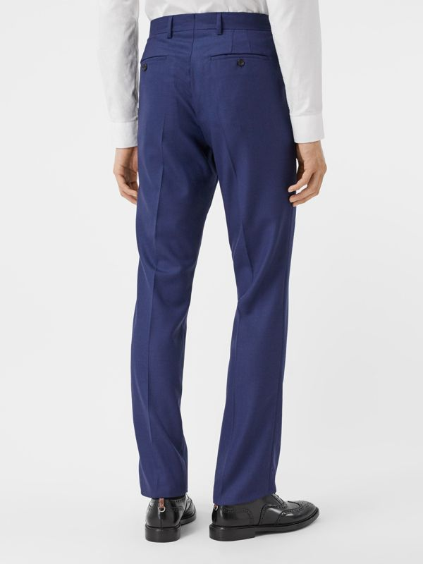 Classic Fit Birdseye Wool Tailored Trousers in Bright Navy - Men | Burberry Hong Kong S.A.R - cell image 2