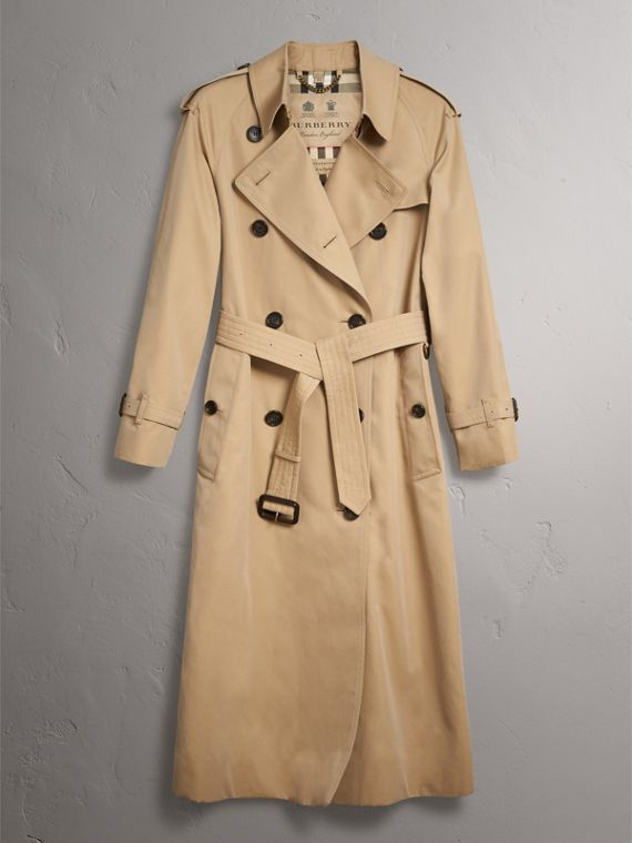 The Westminster – Extra-long Trench Coat in Honey - Women | Burberry - cell image 3