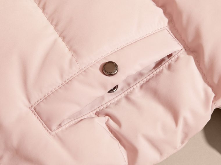 Hooded Down-filled Puffer Jacket with Mittens Powder Pink - cell image 1