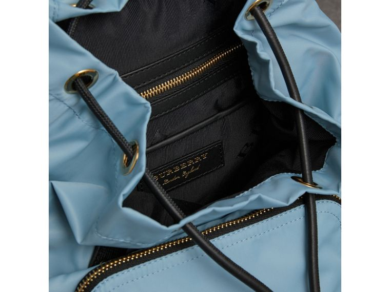 The Medium Rucksack in Technical Nylon and Leather in Pale Bluebell - Women | Burberry - cell image 4