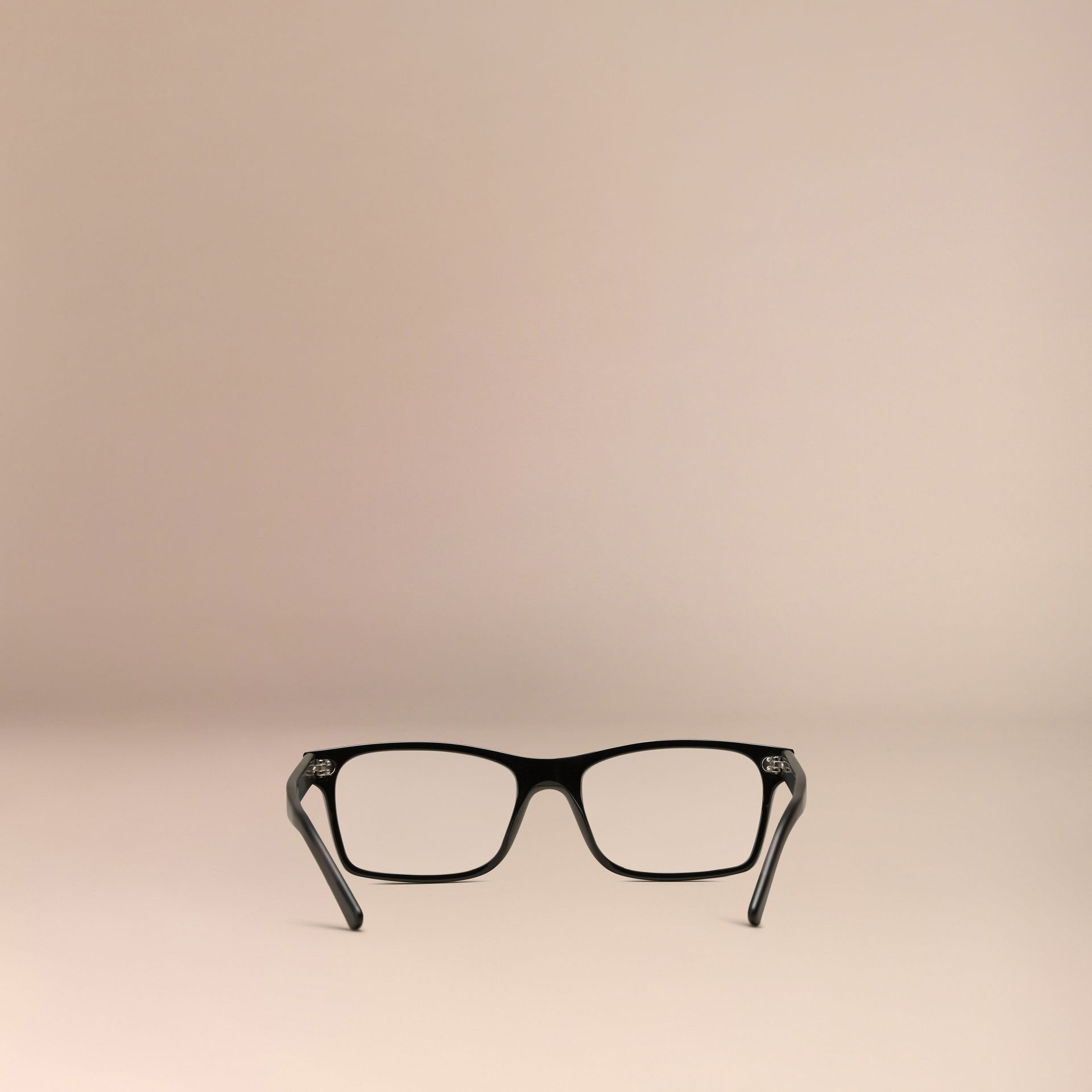 Black Rectangular Optical Frames Black - gallery image 3