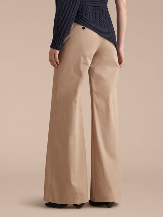 Cotton Twill Wide-leg Trousers - cell image 2