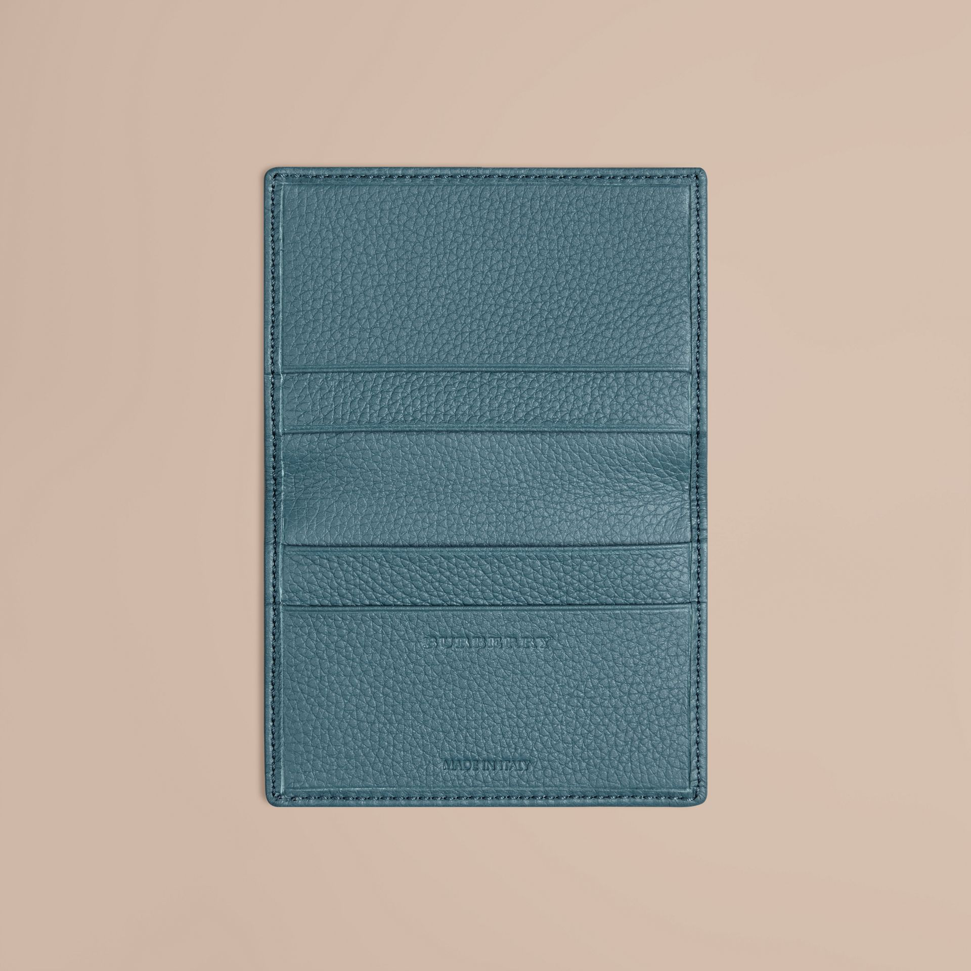 Dusty teal Grainy Leather Card Case Dusty Teal - gallery image 3