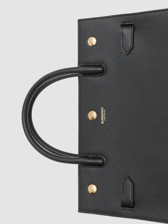 Small Leather Two-handle Title Bag in Black - Women | Burberry Canada - cell image 1
