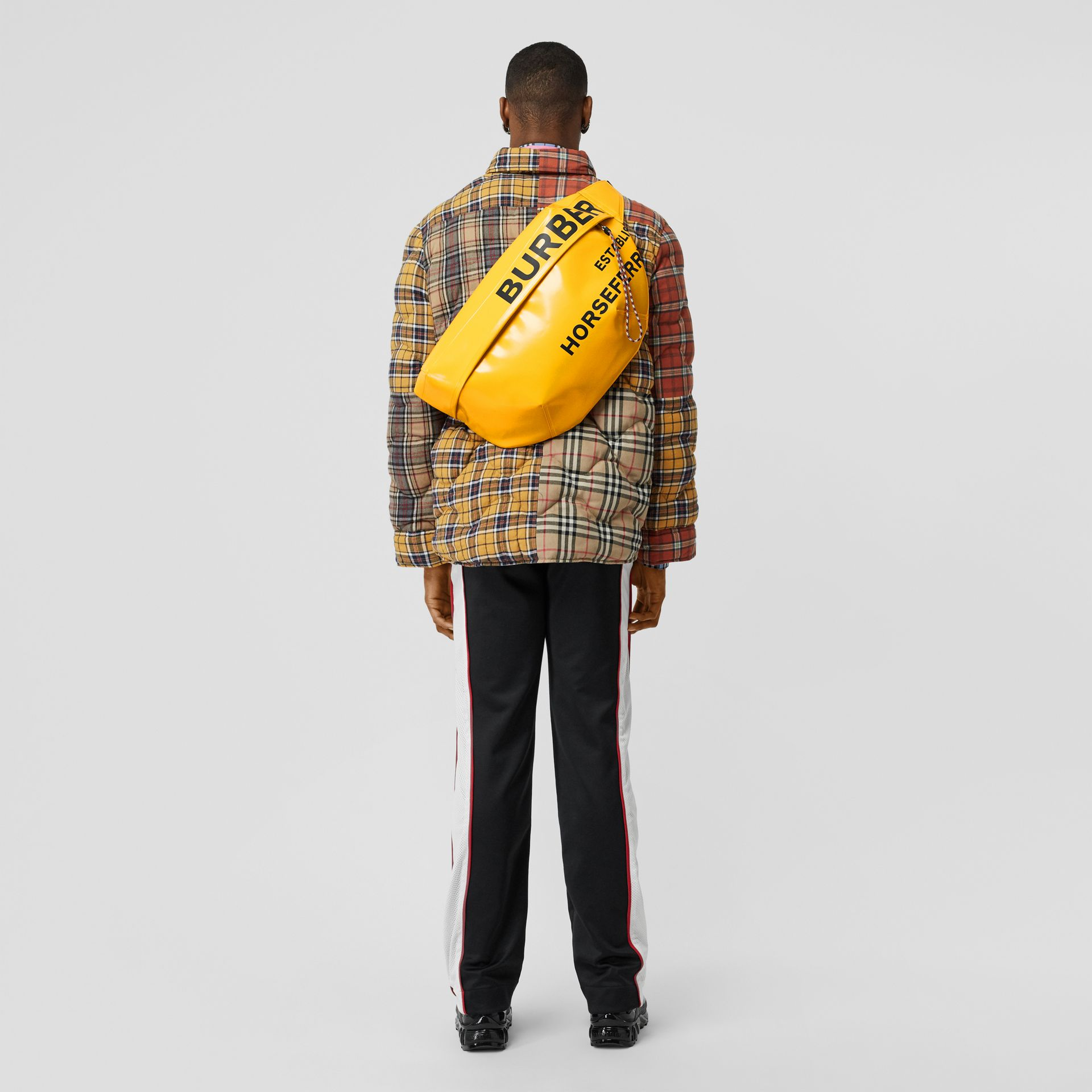 Extra Large Horseferry Print Coated Canvas Bag in Yellow - Men | Burberry United States - gallery image 2