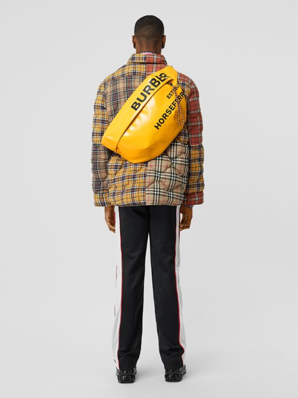 Extra Large Horseferry Print Coated Canvas Bag in Yellow - Men | Burberry United States - cell image 2