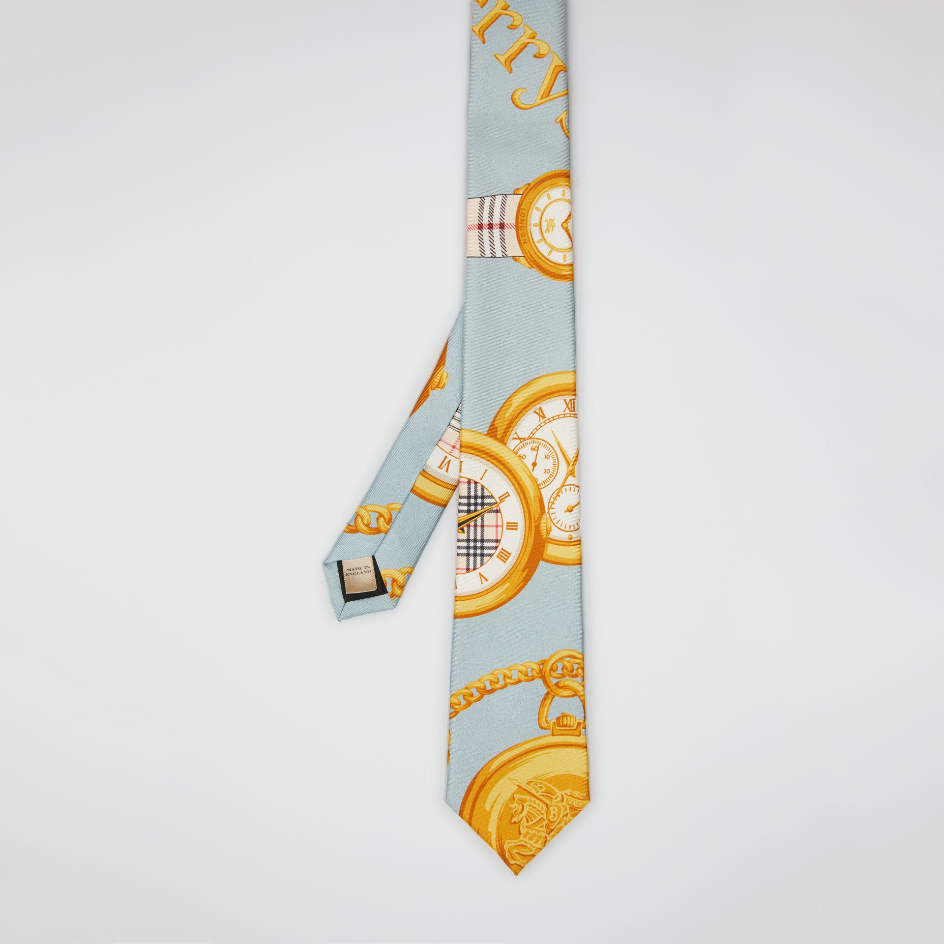 Modern Cut Archive Scarf Print Silk Tie in Blue - Men | Burberry Hong Kong - gallery image 3