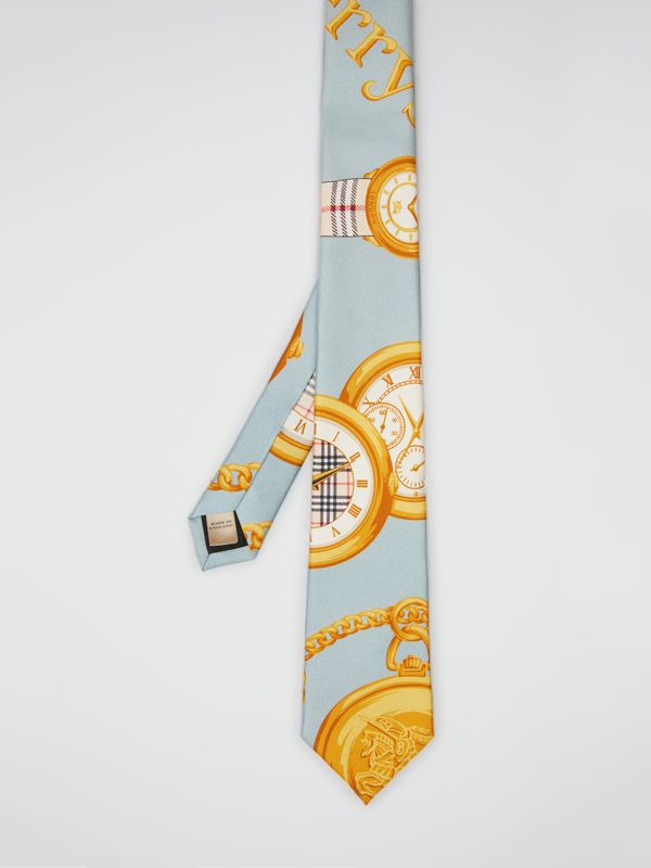 Modern Cut Archive Scarf Print Silk Tie in Blue - Men | Burberry United States - cell image 3
