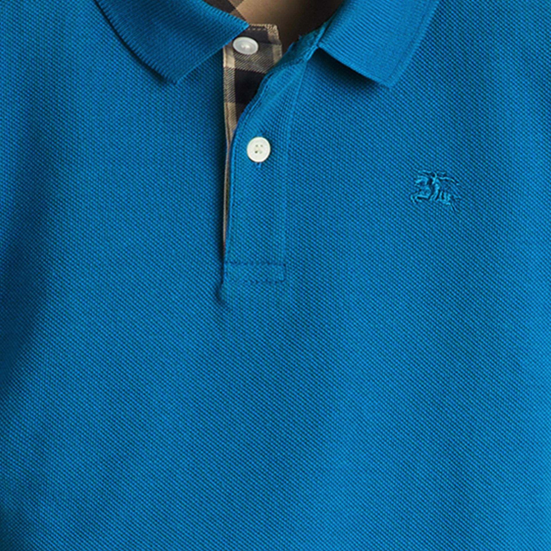 Bright opal Check Placket Polo Shirt Bright Opal - gallery image 2