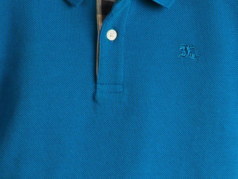Bright opal Check Placket Polo Shirt Bright Opal - cell image 1