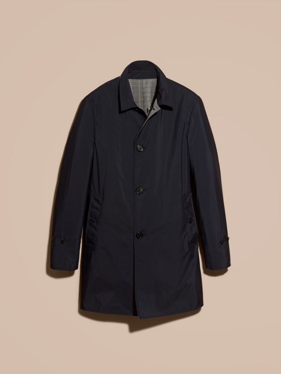Reversible Prince of Wales Wool Car Coat - cell image 3