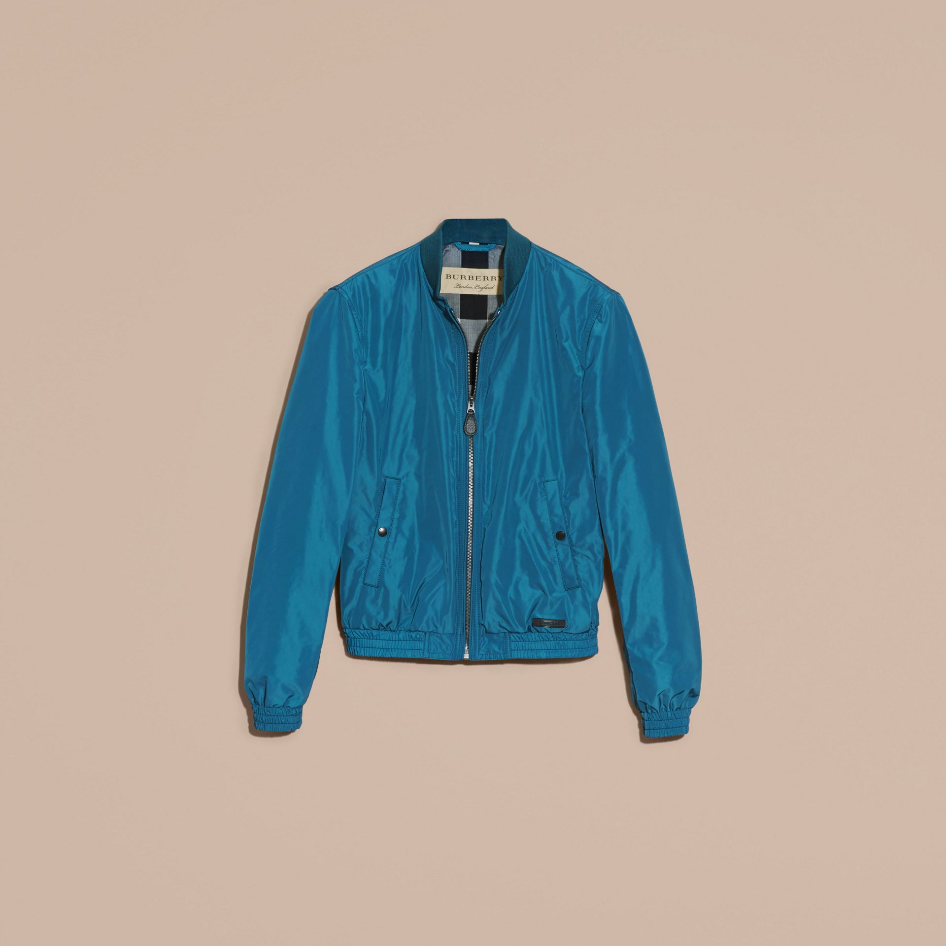 Pale petrol blue Showerproof Bomber Jacket Pale Petrol Blue - gallery image 4