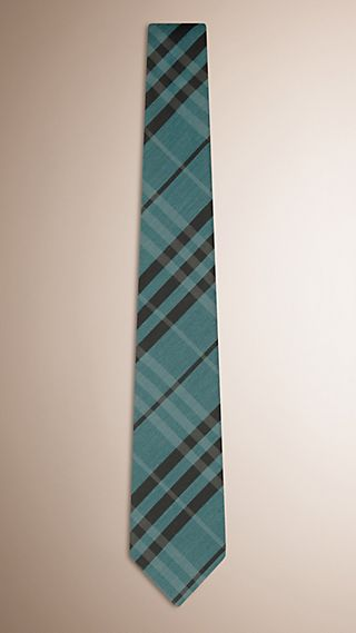 Classic Cut Check Silk Cotton Tie