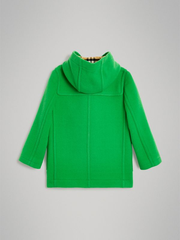 Double-faced Wool Duffle Coat in Bright Grass Green | Burberry Australia - cell image 3