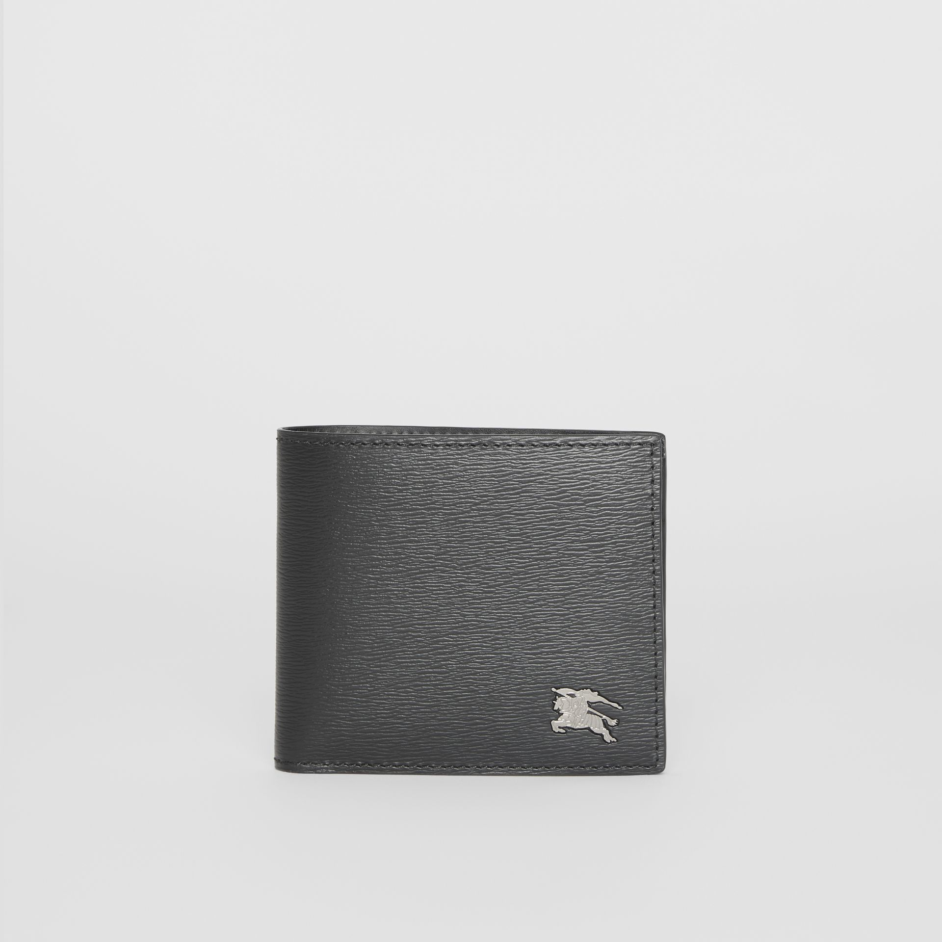 London Leather International Bifold Coin Wallet in Black - Men | Burberry Hong Kong - gallery image 2