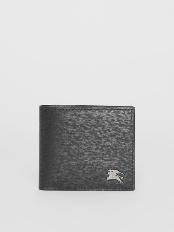 London Leather International Bifold Coin Wallet in Black - Men | Burberry Hong Kong - cell image 2