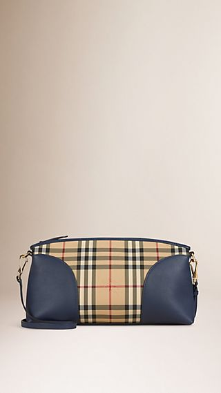 Horseferry Check and Leather Clutch Bag