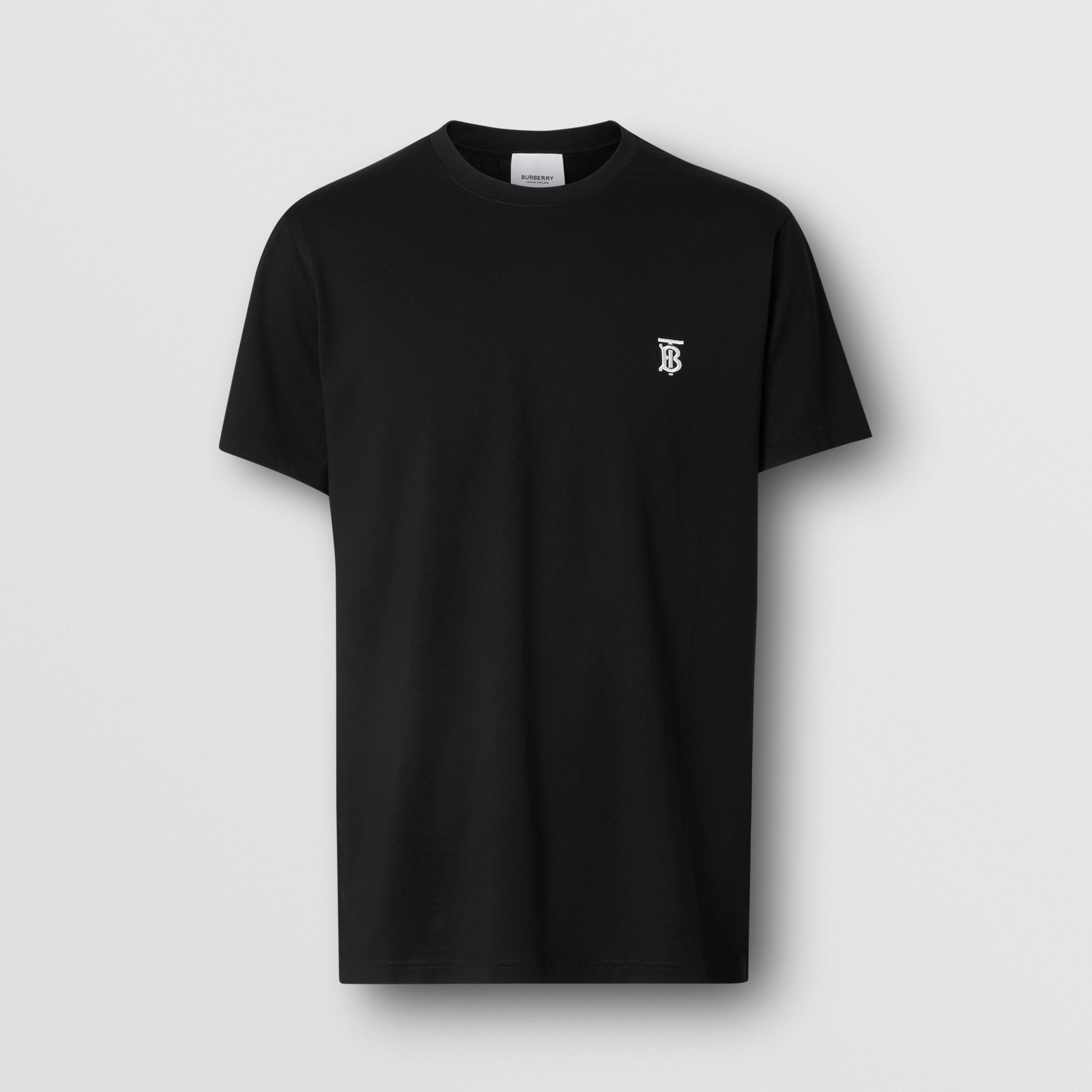 Monogram Motif Cotton T-shirt in Black - Men | Burberry - 4