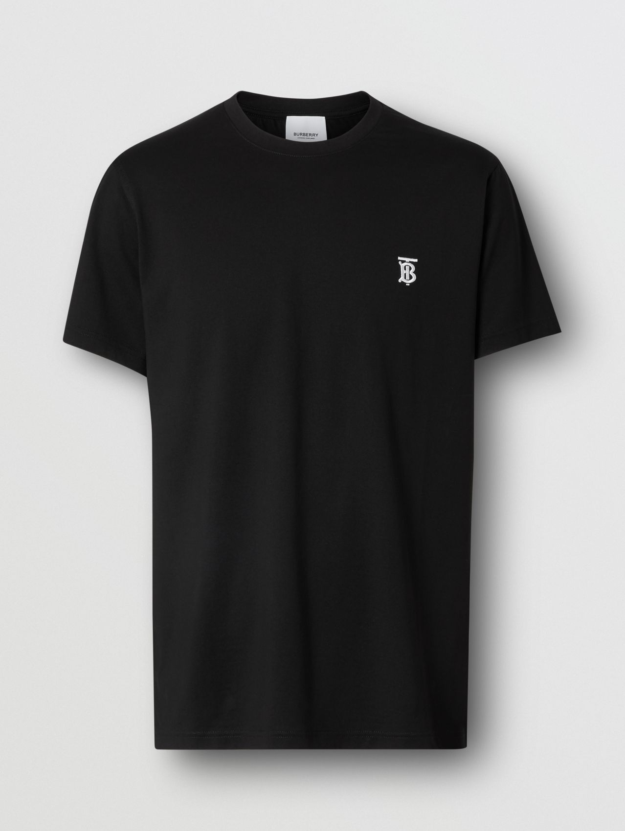 Monogram Motif Cotton T-shirt (Black)