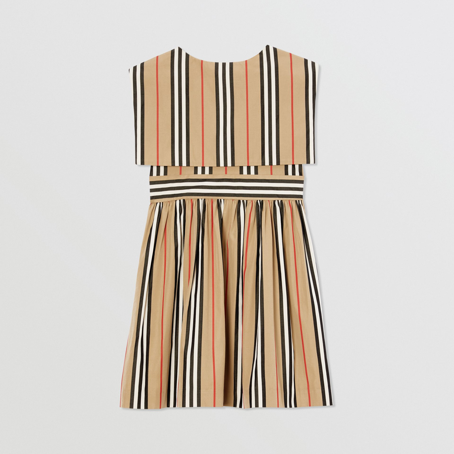 Icon Stripe Cotton Poplin Sailor Dress in Archive Beige | Burberry - gallery image 3