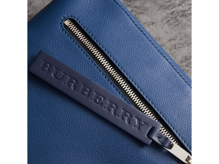 Grainy Leather Briefcase in Bright Ultramarine - Men | Burberry - cell image 1