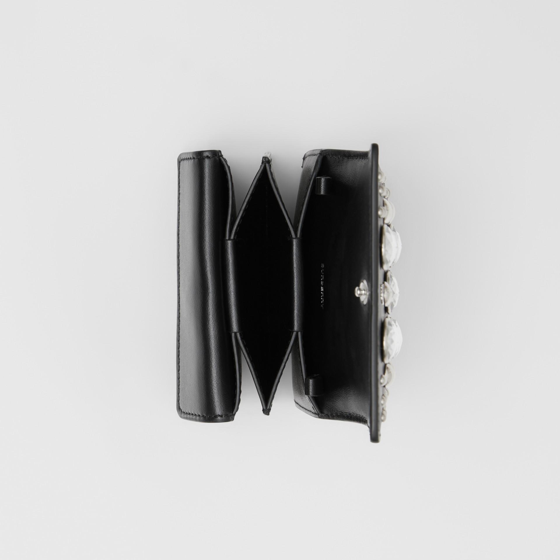 Porte-cartes en cuir avec ornements et sangle amovible (Noir)   Burberry Canada - photo de la galerie 10