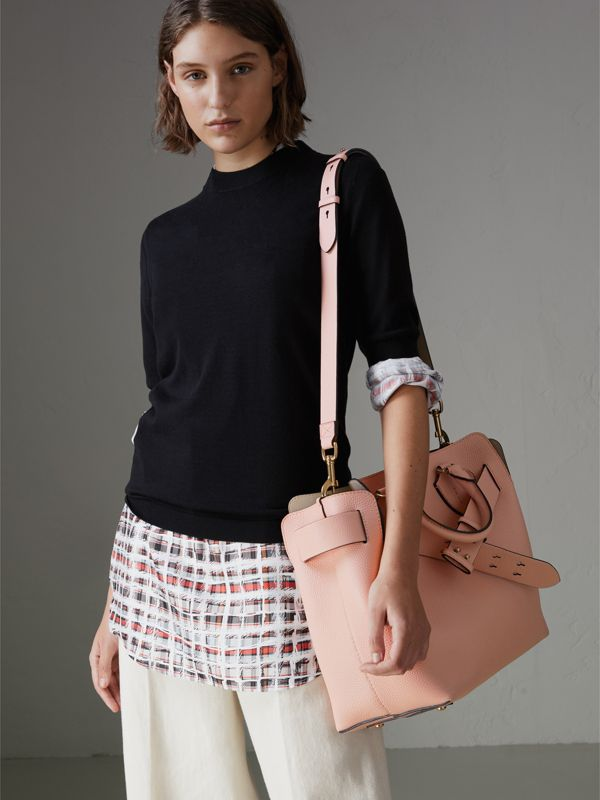 The Medium Leather Belt Bag in Pale Ash Rose - Women | Burberry - cell image 3