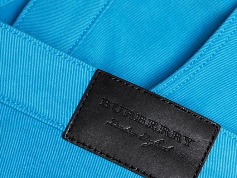 Slim Fit Japanese Stretch Denim Jeans Cerulean Blue - cell image 1