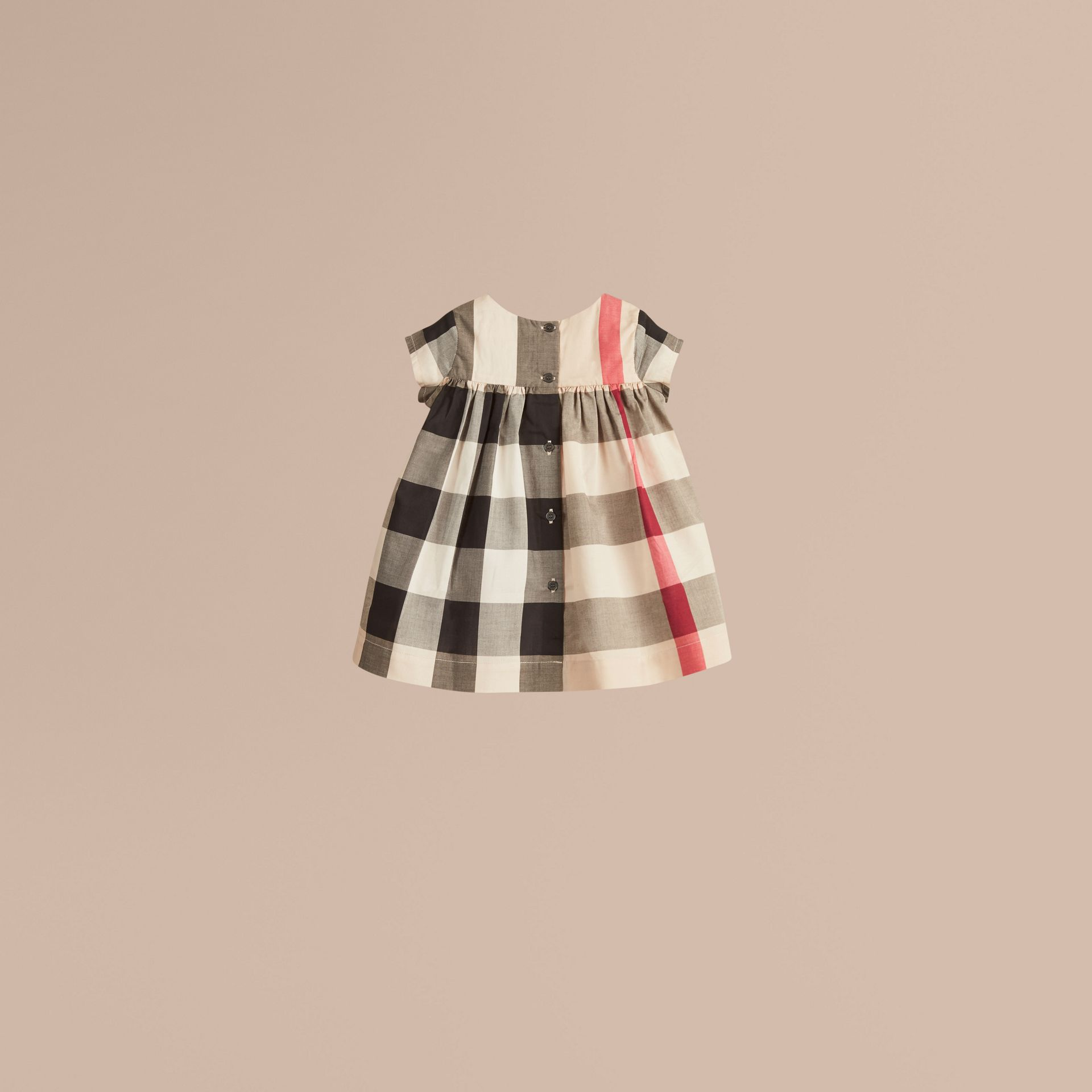 Check Cotton Dress in New Classic - Girl | Burberry Australia - gallery image 3