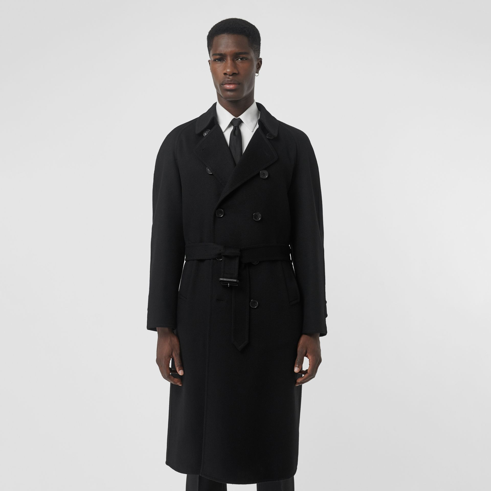 Double-faced Cashmere Trench Coat in Black - Men | Burberry Canada - gallery image 5