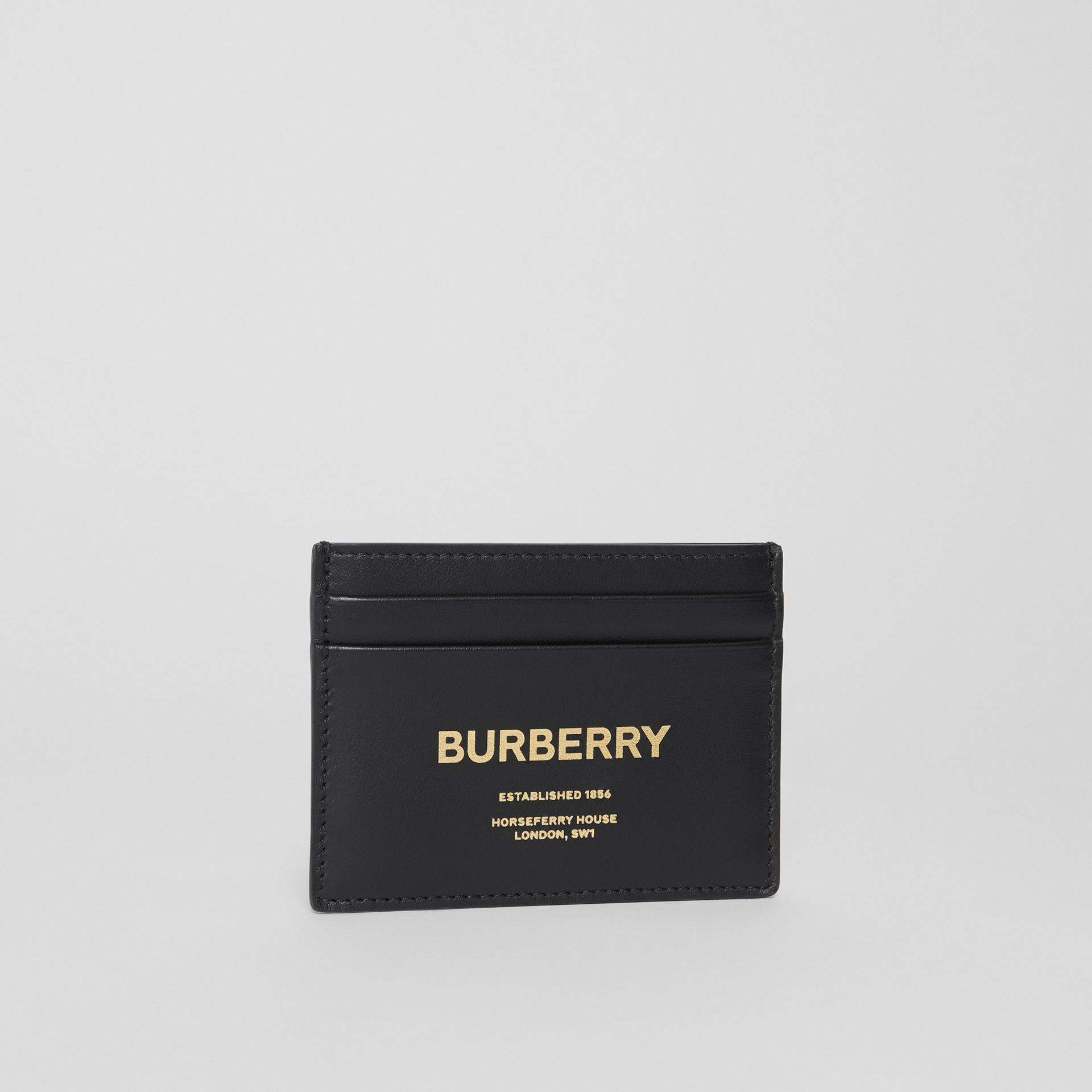 Horseferry Print Leather Card Case in Black - Men | Burberry - gallery image 3