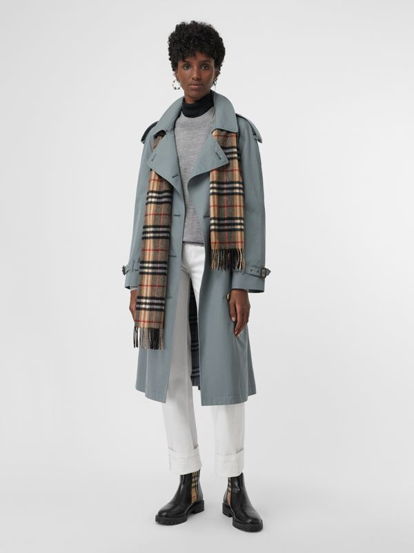Check Cashmere Scarf in Camel | Burberry United States - cell image 2