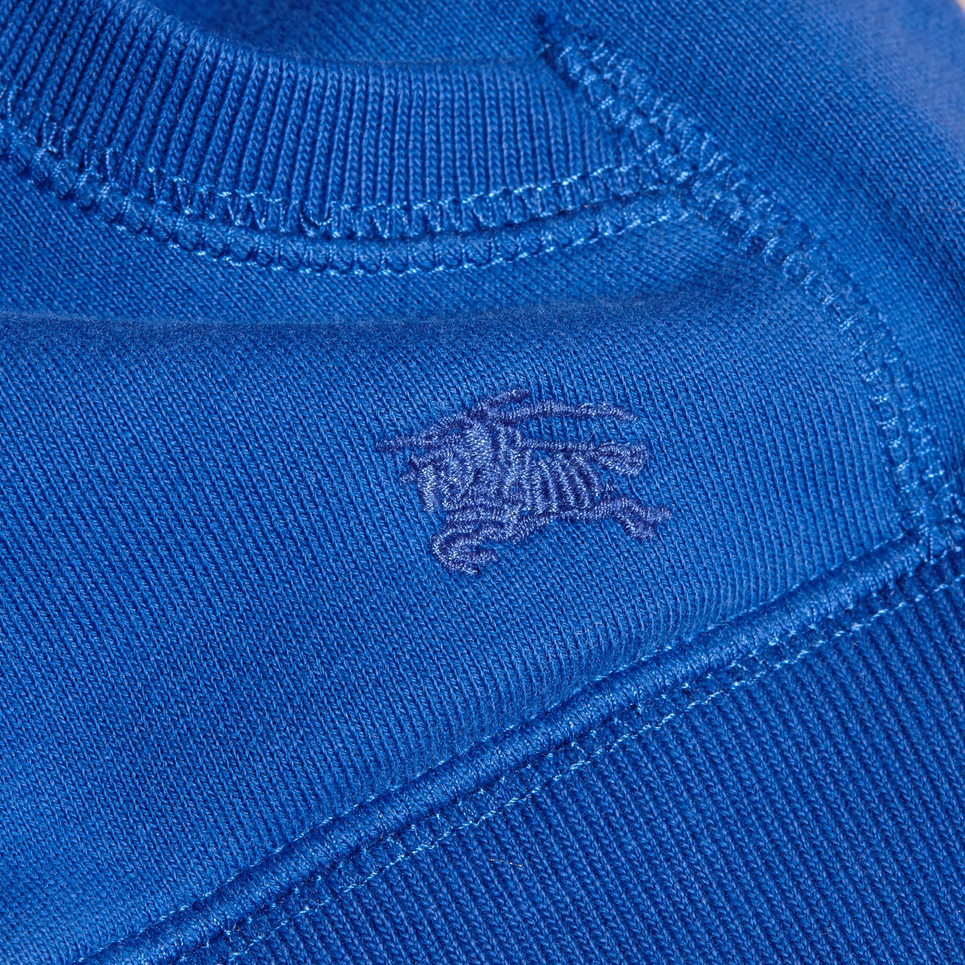 Brilliant blue Hooded Cotton Top Brilliant Blue - gallery image 2