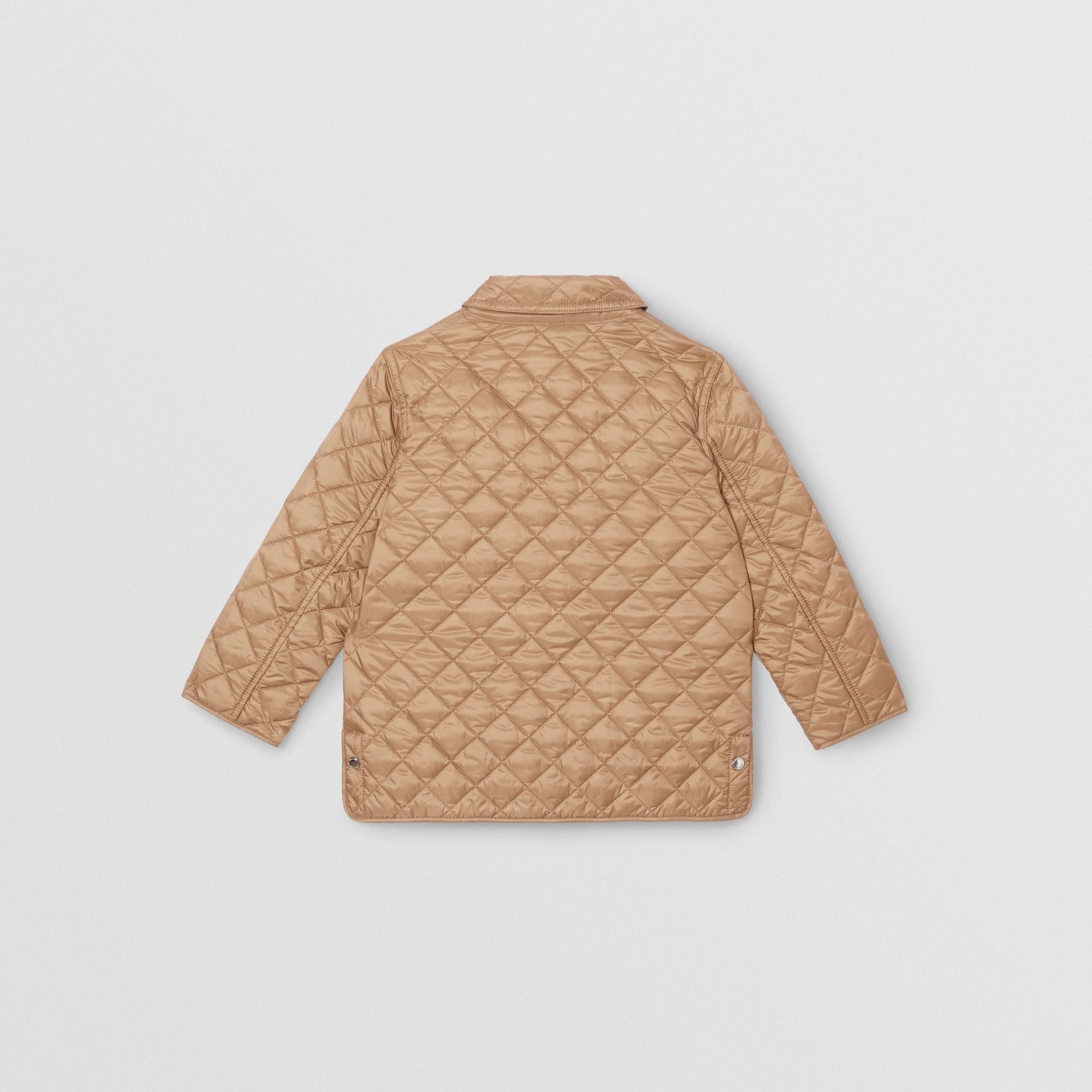 Lightweight Diamond Quilted Jacket in Honey | Burberry - gallery image 4