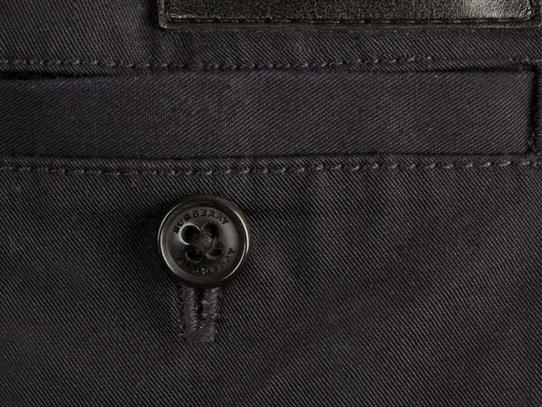Ink Check Detail Cotton Chino Shorts Ink - cell image 1
