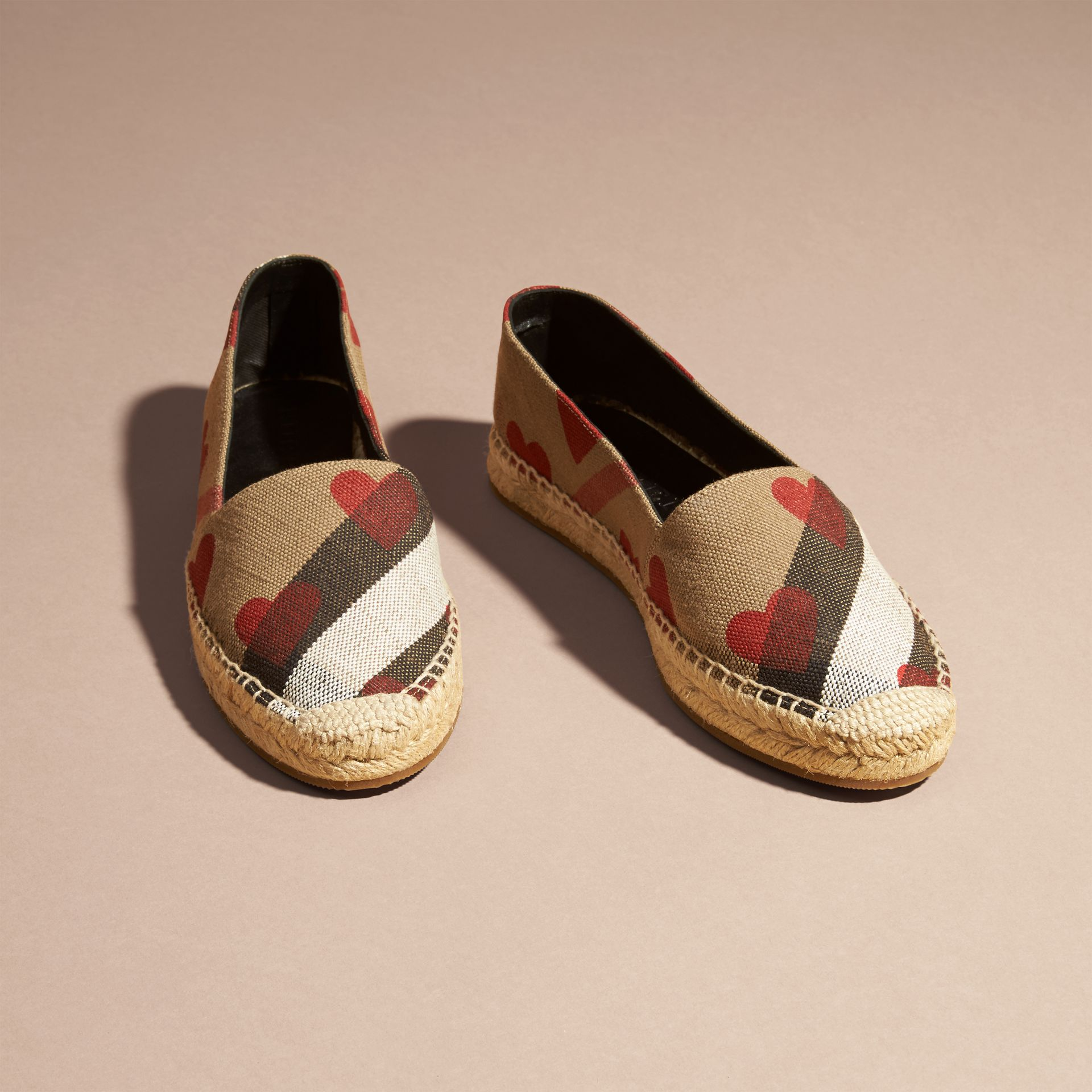 House check/parade red Heart and Canvas Check Espadrilles - gallery image 3