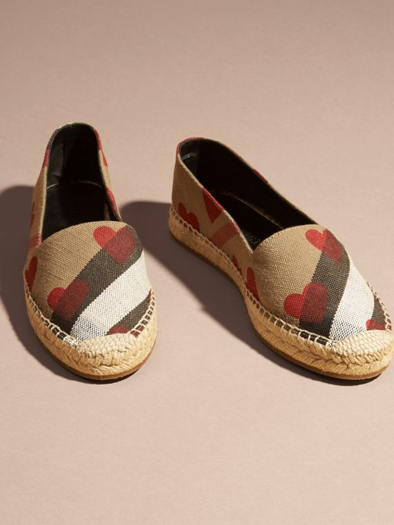 House check/parade red Heart and Canvas Check Espadrilles - cell image 2