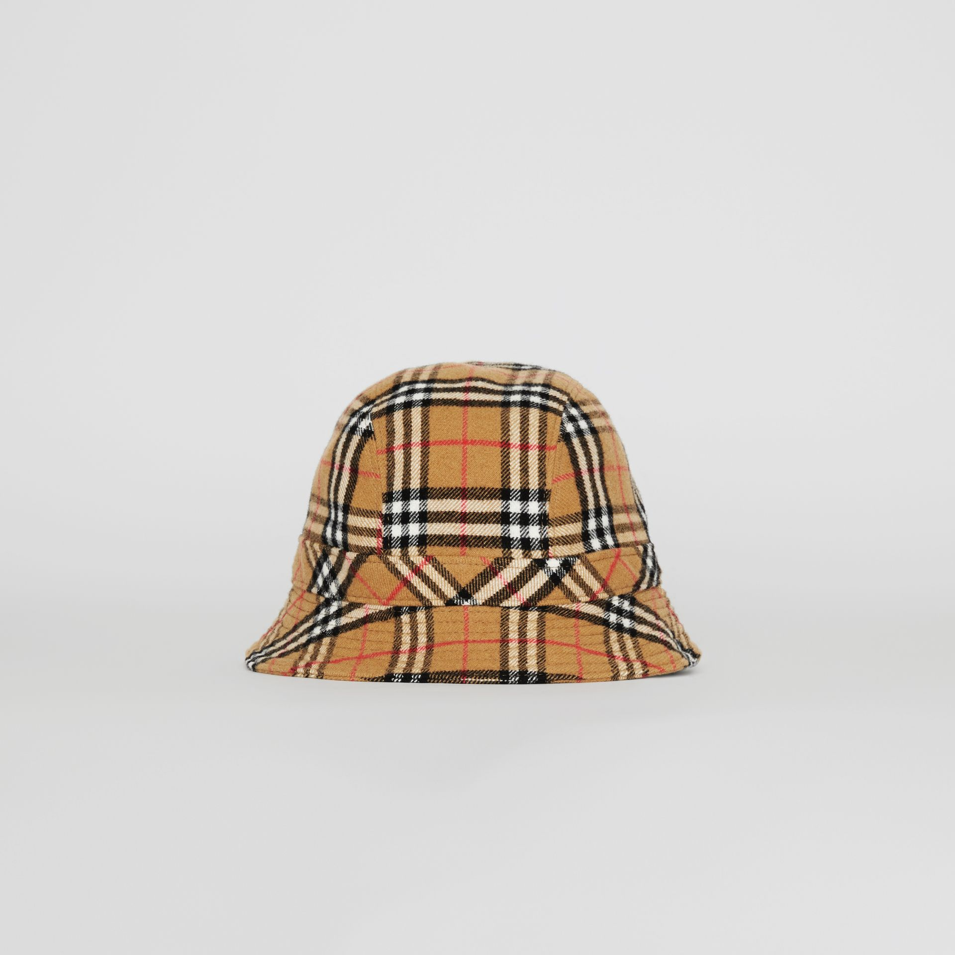Gosha x Burberry Check Flannel Bucket Hat in Antique Yellow | Burberry United Kingdom - gallery image 4