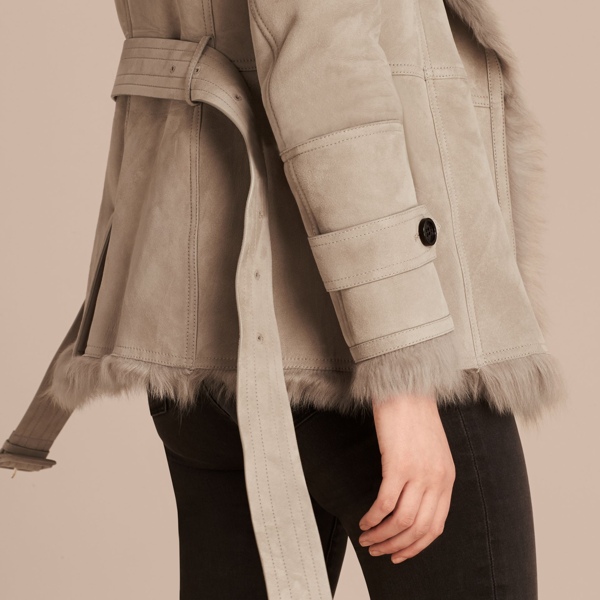Shearling Wrap Jacket - gallery image 5