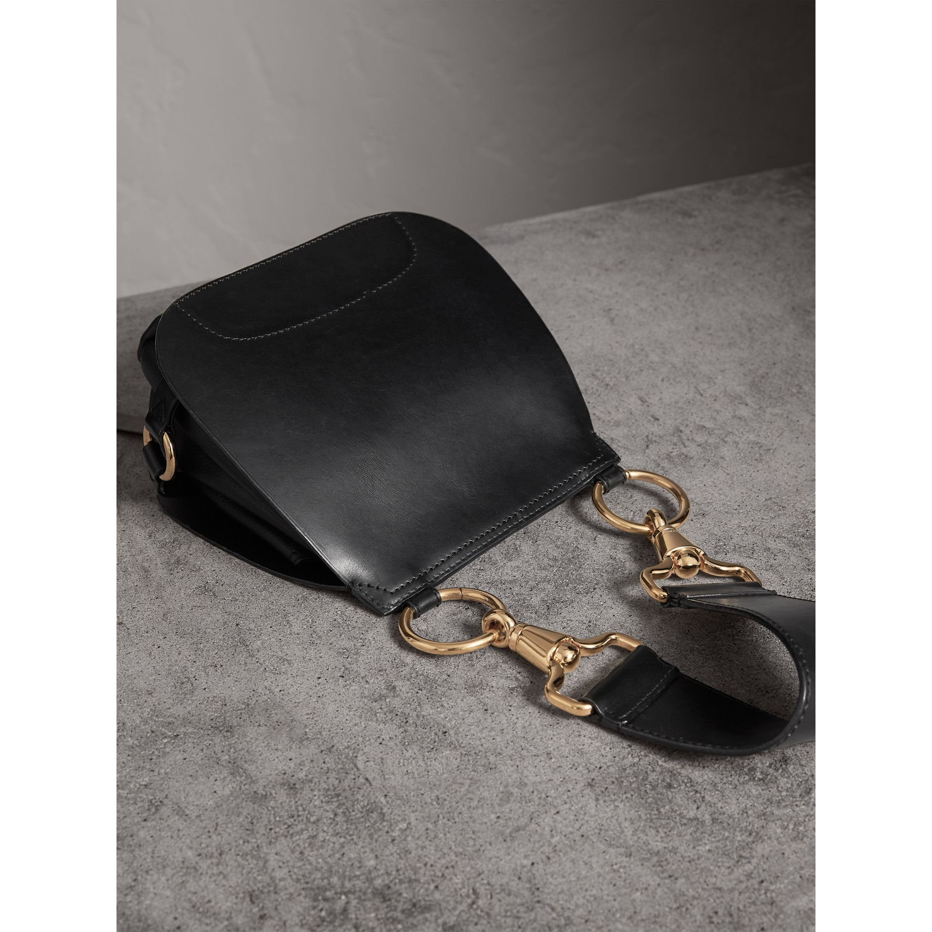 The Bridle Bag in Leather in Black - Women | Burberry - gallery image 5