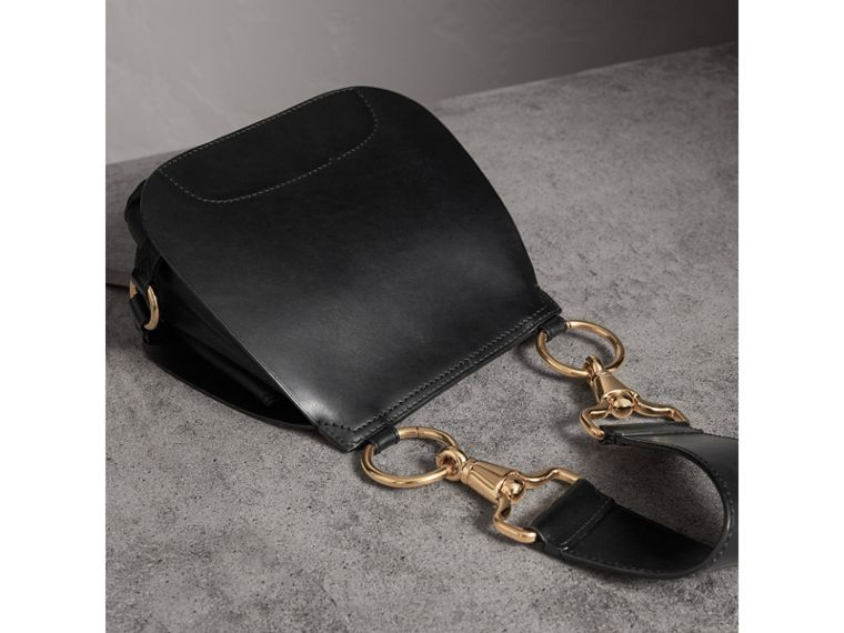 The Bridle Bag in Leather in Black - Women | Burberry - cell image 4