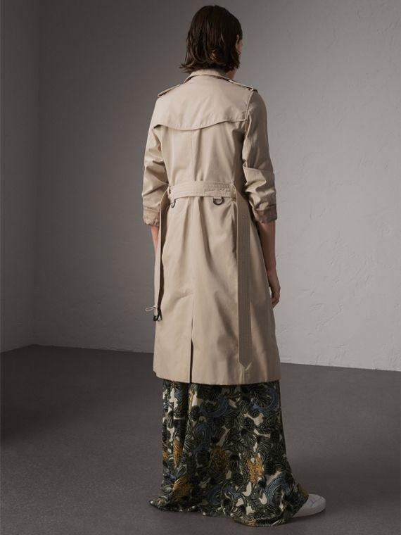 The Kensington – Extra-long Trench Coat in Stone - Women | Burberry - cell image 2