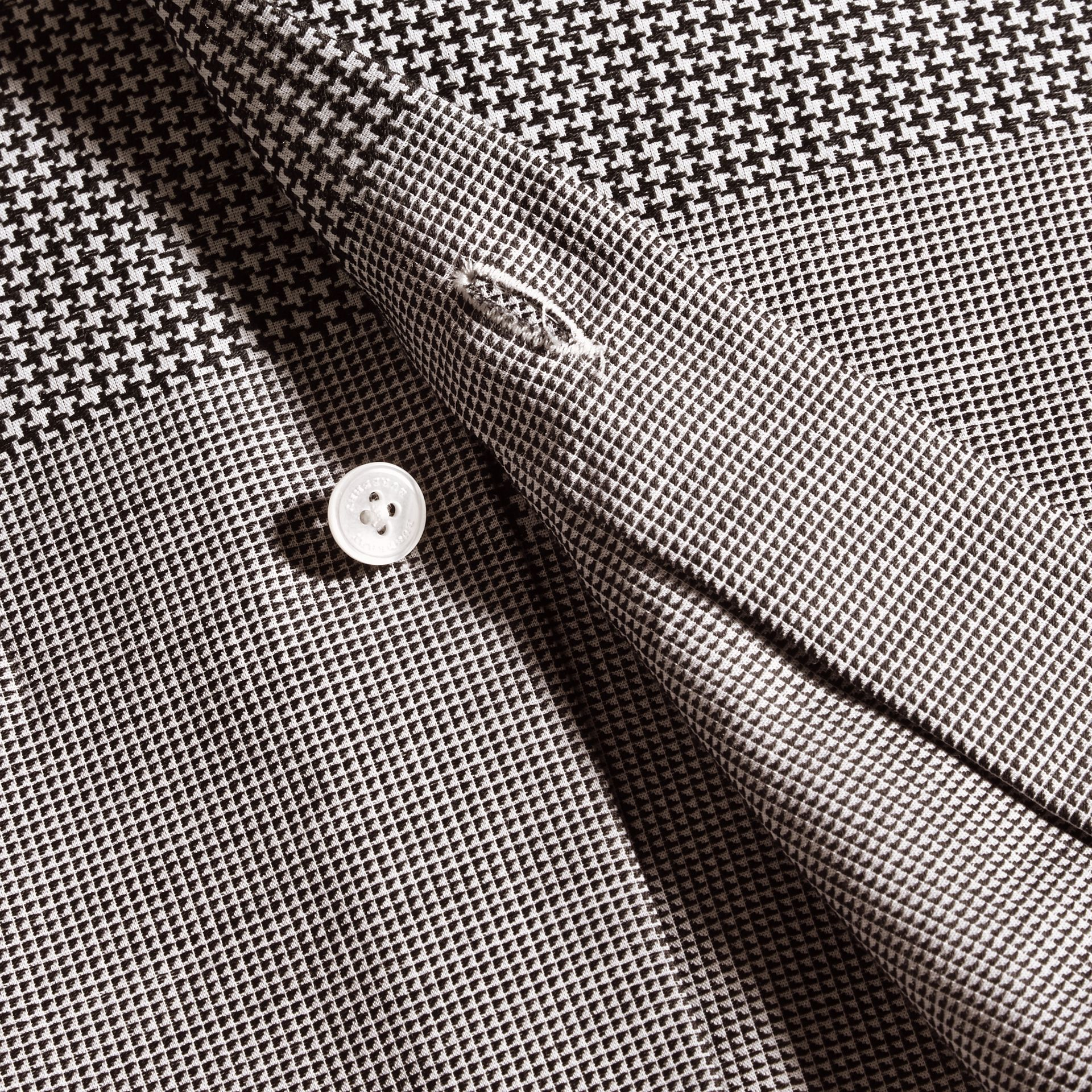Black Puppytooth Cotton Shirt - gallery image 2