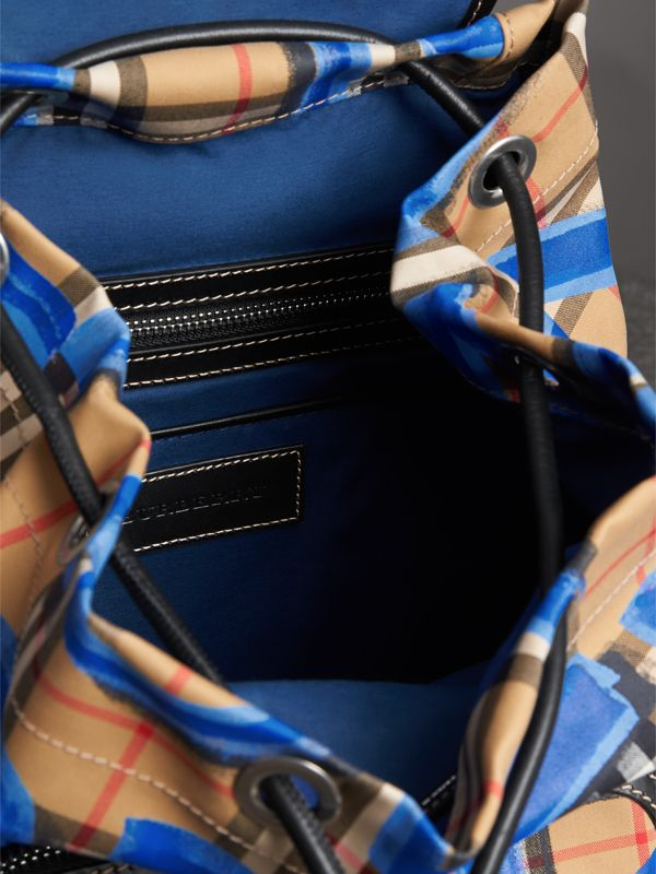 The Medium Rucksack in Graffiti Print Vintage Check in Black - Women | Burberry Australia - cell image 3