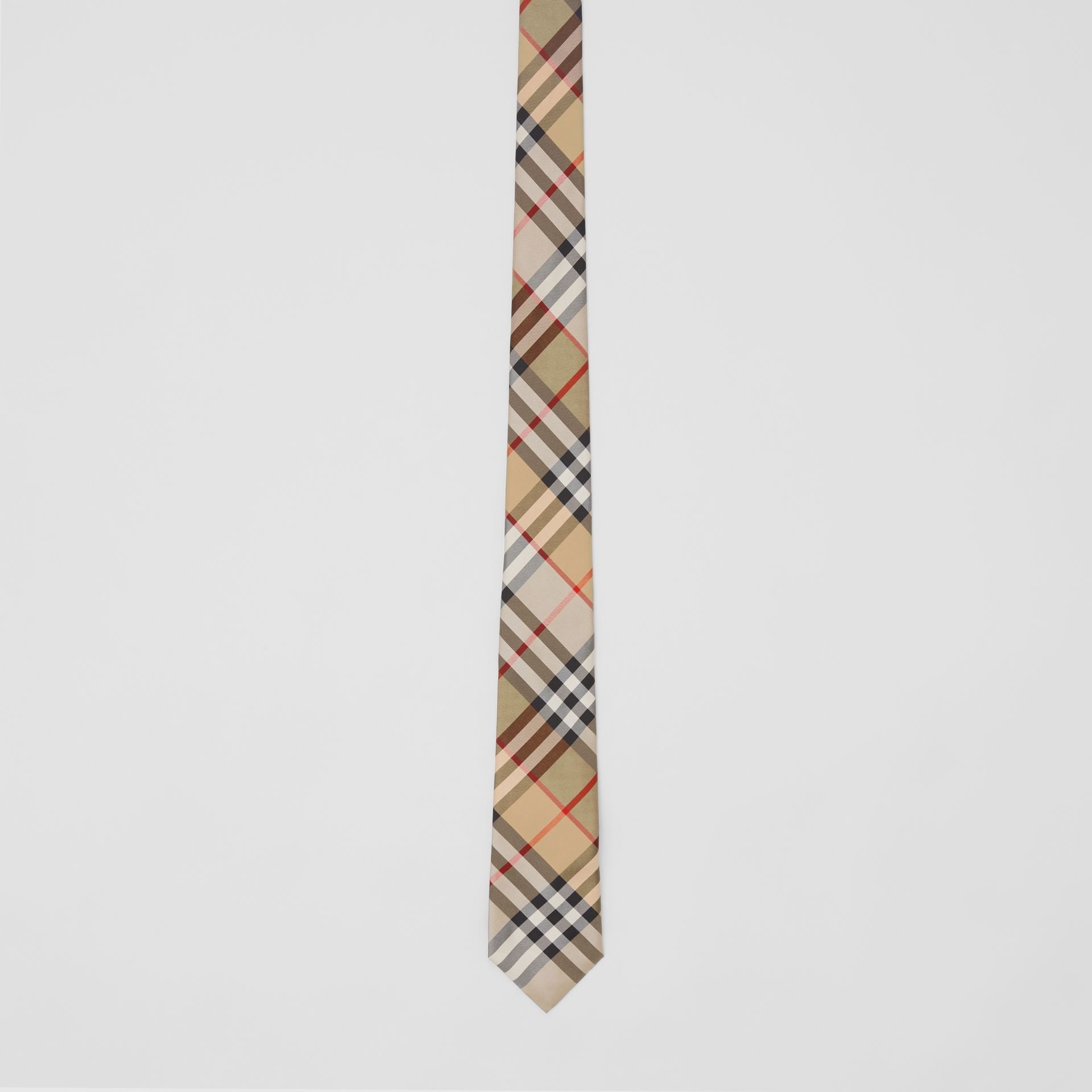 Classic Cut Vintage Check Silk Twill Tie in Archive Beige - Men | Burberry United Kingdom - gallery image 3