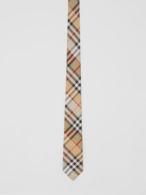 Classic Cut Vintage Check Silk Twill Tie in Archive Beige - Men | Burberry United Kingdom - cell image 3