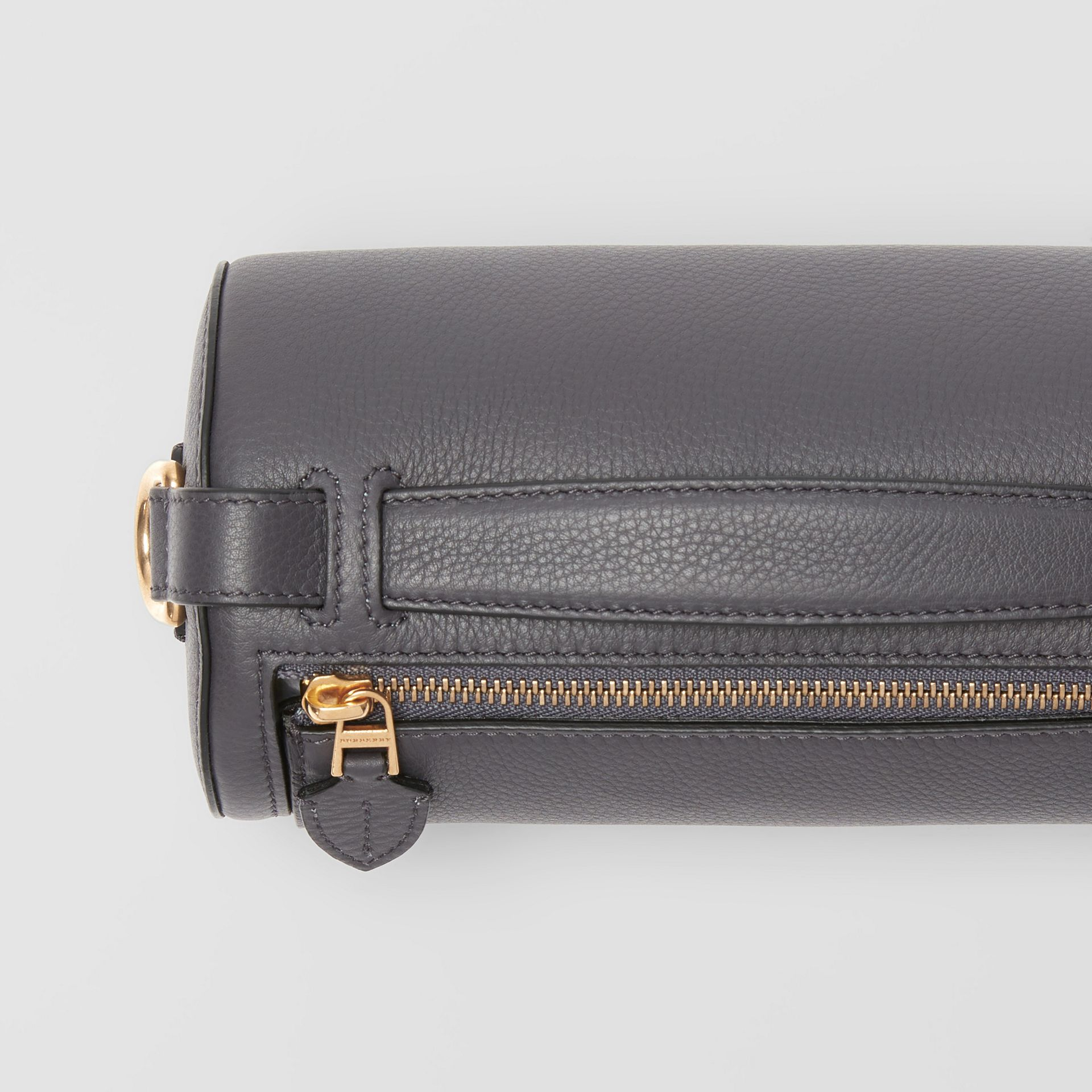 The Leather Barrel Bag in Charcoal Grey - Women | Burberry - gallery image 1