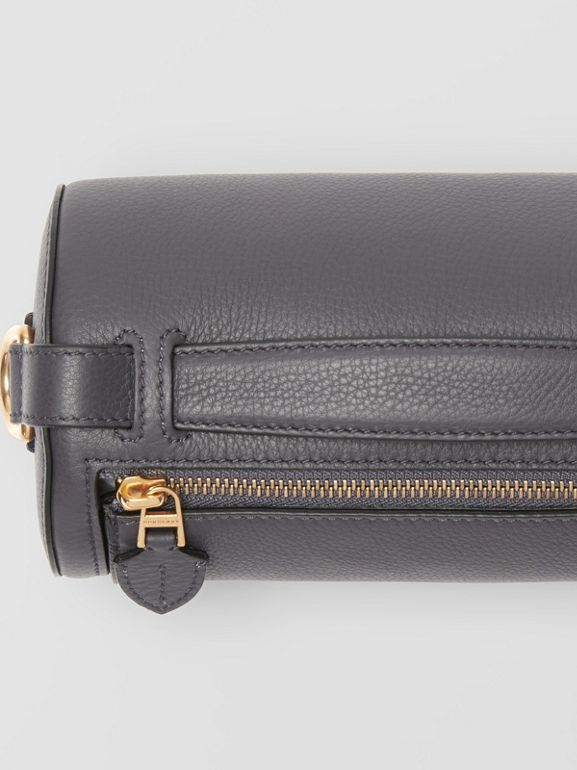 The Leather Barrel Bag in Charcoal Grey - Women | Burberry Canada - cell image 1