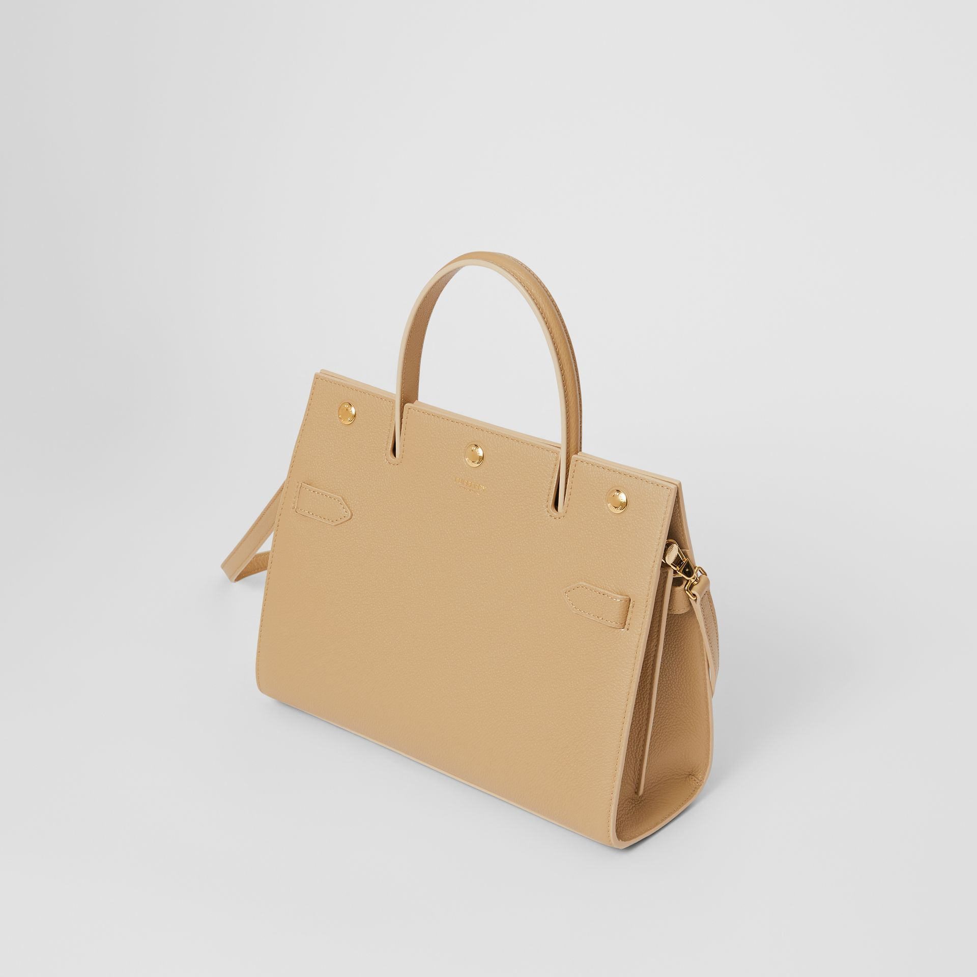 Small Leather Title Bag in Honey - Women | Burberry - gallery image 3
